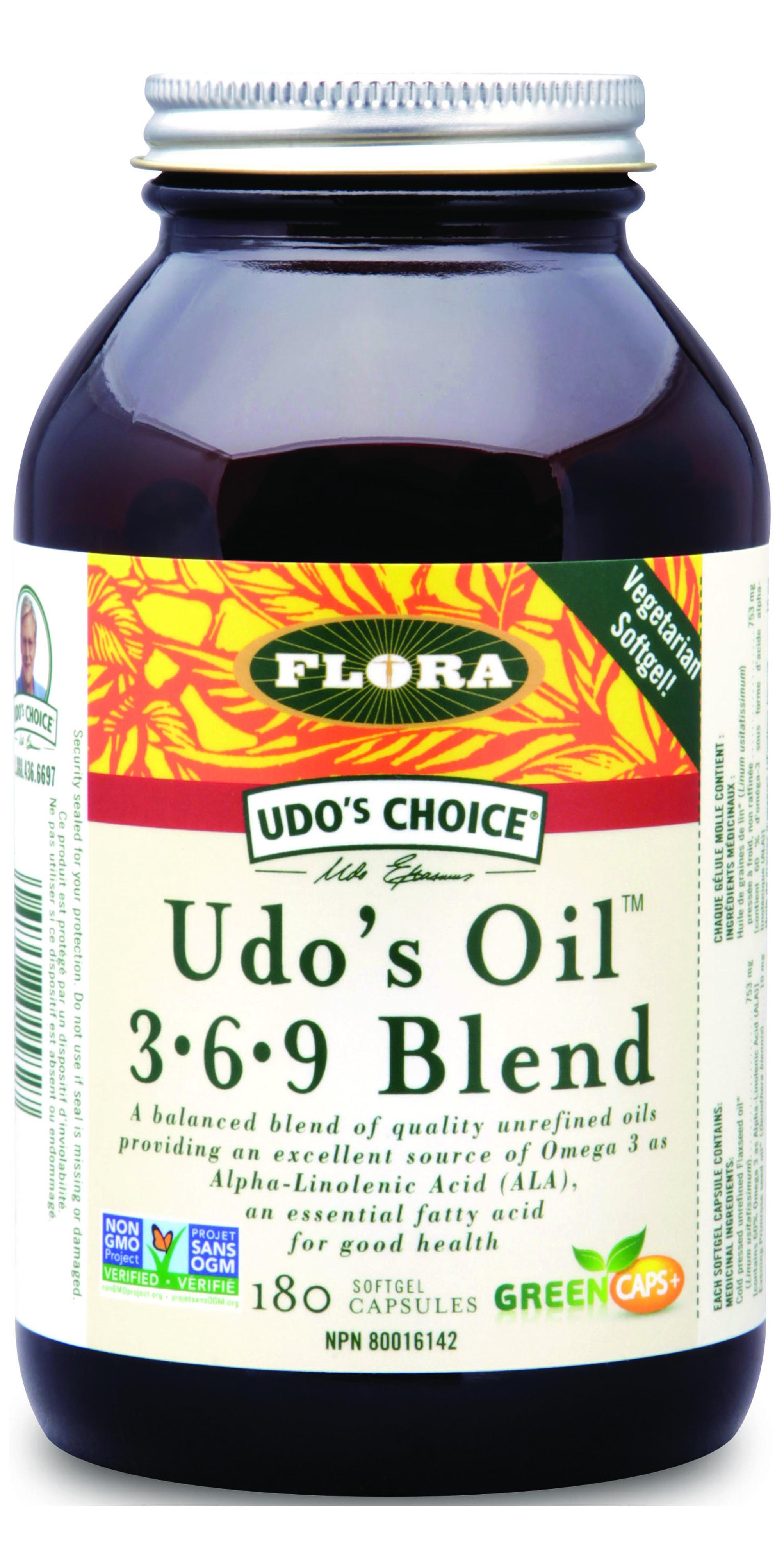 Udos Oil 3-6-9 Blend, 180kapslí (expirace 31.10.2016)