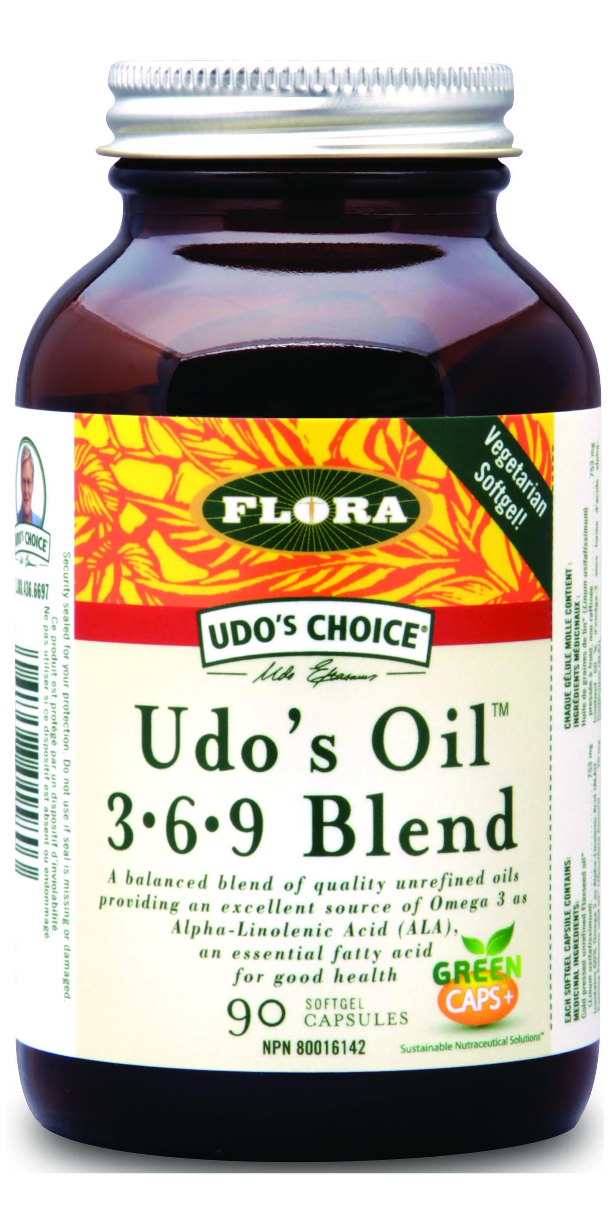 Udos Oil 3-6-9 Blend, 90kapslí