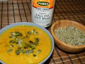 Pumpkin soup with Udo`s Oil Blend